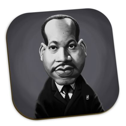 Martin Luther King Celebrity Caricature Coasters