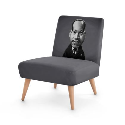 Martin Luther King Celebrity Caricature Occasional Chair