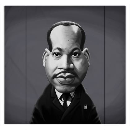 Martin Luther King Celebrity Caricature Duvet Covers