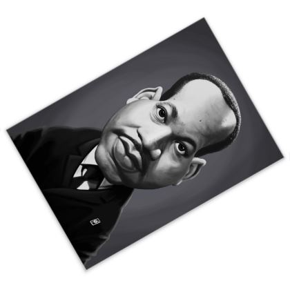 Martin Luther King Celebrity Caricature Postcard
