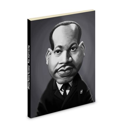 Martin Luther King Celebrity Caricature Pocket Note Book