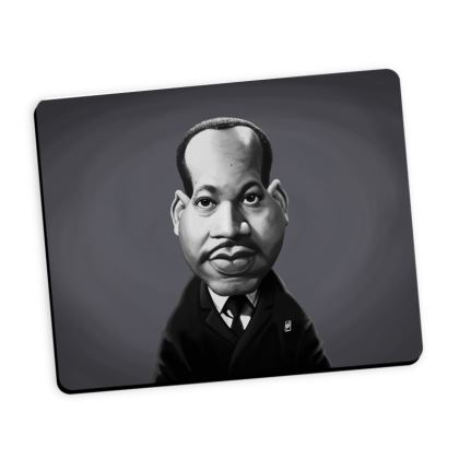 Martin Luther King Celebrity Caricature Mouse Mat