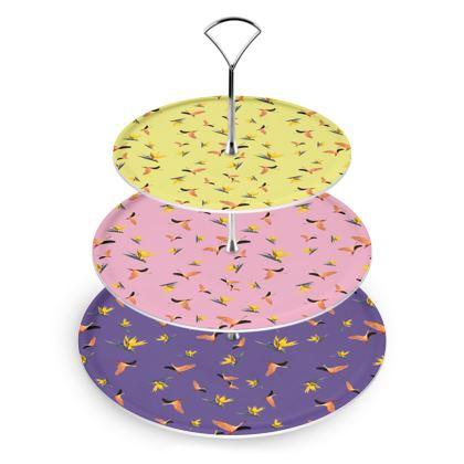 Cake Stand - Flamingos