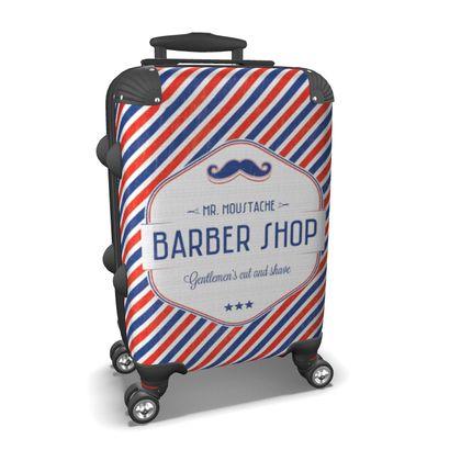 Retro Suitcase Mr. Moustache Barber Shop
