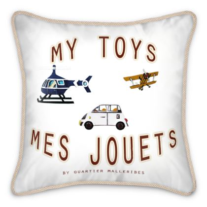 "Silk Cushion ""Mes Jouets"""