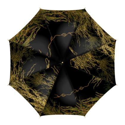 Flossie Adventurier Black & Gold Umbrella