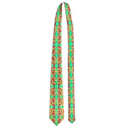 Mint geomentric Tie