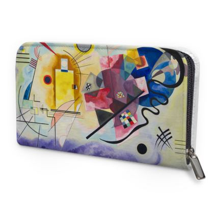 Leather Zip Purse: Yellow-Red-Blue By Wassily Kandinsky