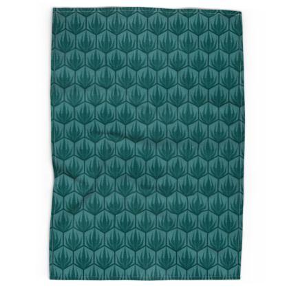 Palm Deco Pattern Tea Towel