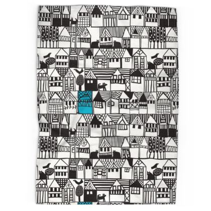 Hillside Tea Towels by Caroline Rees