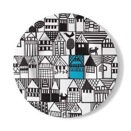 Hillside Decorative Plate by Caroline Rees