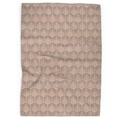 Palm Deco Pattern ~ Desert Oasis Tea Towel