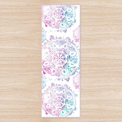 Yoga Mat watercolor mandala