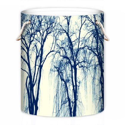 Blue Trees Laundry Bag