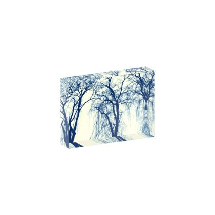 Blue Trees Acrylic Photo Block