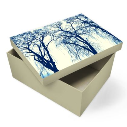 Blue Trees Photo Box