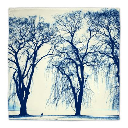 Blue Trees Napkins