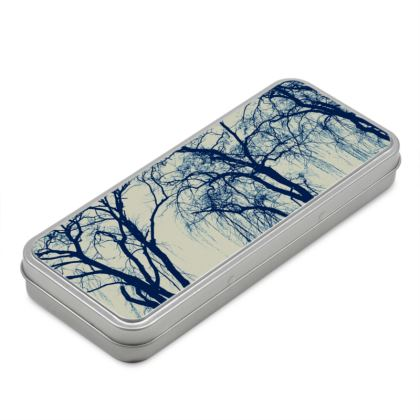 Blue Trees Pencil Case Box