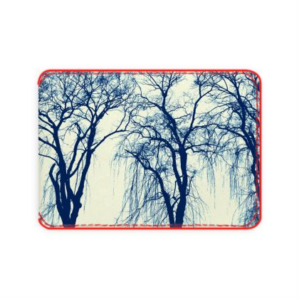Blue Trees Card Holder