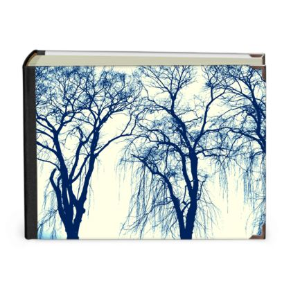 Blue Trees Scrapbook Album