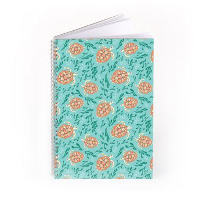 Sea Turtles Pattern Spiral Notebook