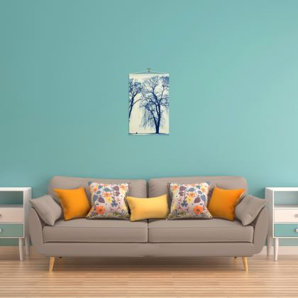 Blue Trees Wall Hanging