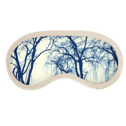 Blue Trees Eye Mask
