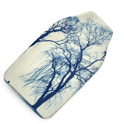 Blue Trees Hot Water Bottle