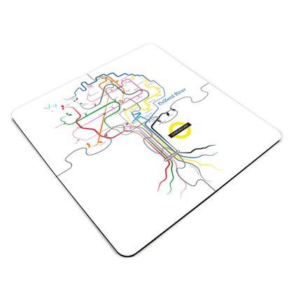 Mawnan Roots Jigsaw Coaster Set
