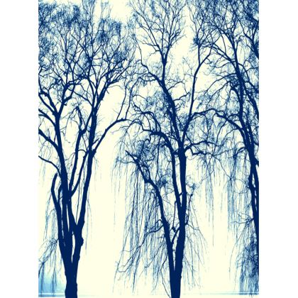 Blue Trees Tray
