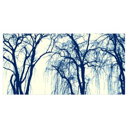 Blue Trees Curtains