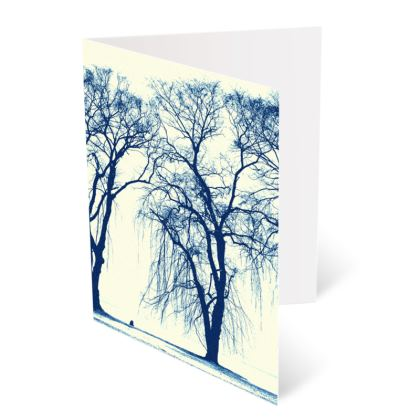 Blue Trees Occasions Cards