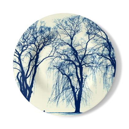 Blue Trees Decorative Plate