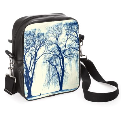 Blue Trees Shoulder Bag