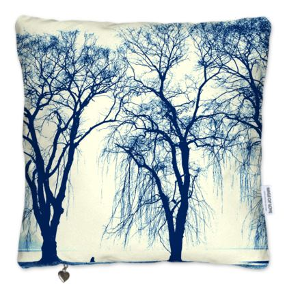 Blue Trees Pillows Set