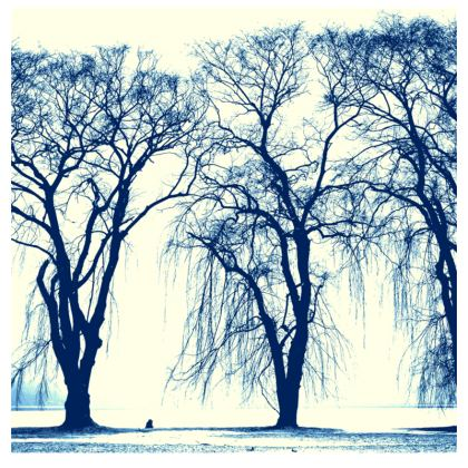Blue Trees Fabric Placemat