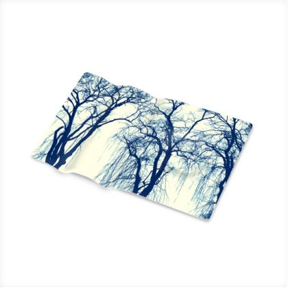 Blue Trees Printed Pen Tray