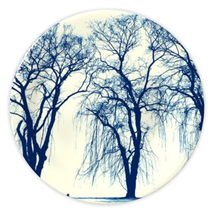 Blue Trees China Plate