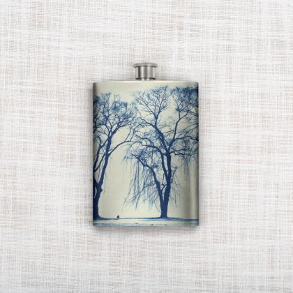 Blue Trees Hip Flask