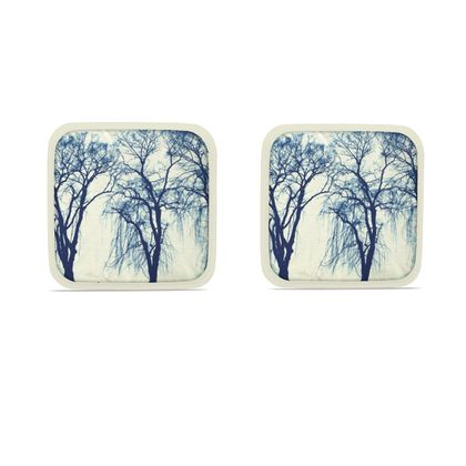 Blue Trees Hot Dish Pads