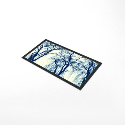 Blue Trees Bar Runner Mat