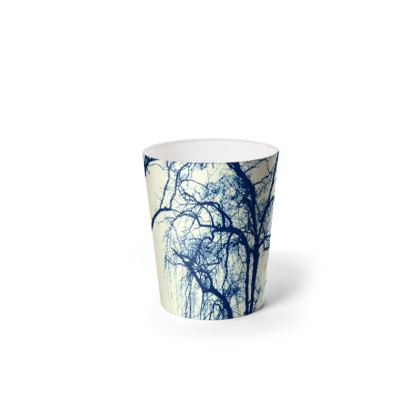 Blue Trees Waste Paper Bin