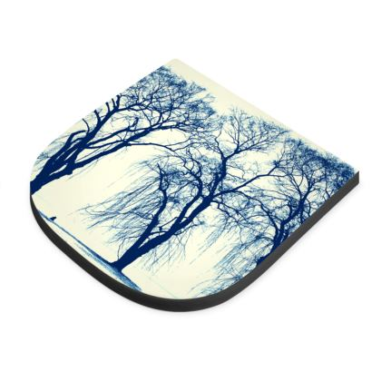 Blue Trees Seat Pad