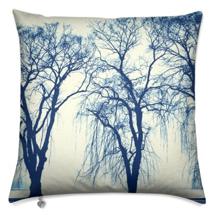 Blue Trees Luxury Cushion