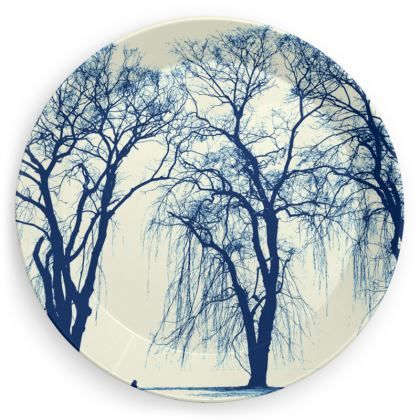 Blue Trees 4 x Party Plates