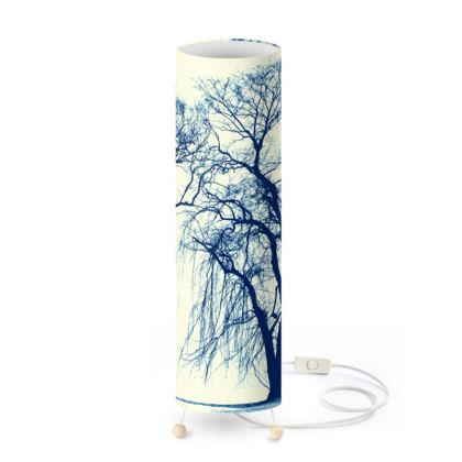 Blue Trees Standing Lamp