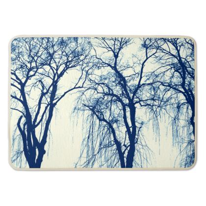 Blue Trees Bath Mat