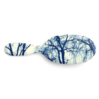 Blue Trees Hairbrush Large