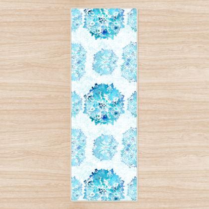 Blue watercolor Yoga Mat