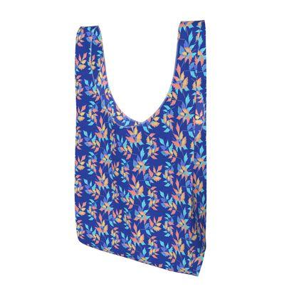 Parachute Shopping Bag, Blue, Orange, Leaf  Slipstream  Almost Winter